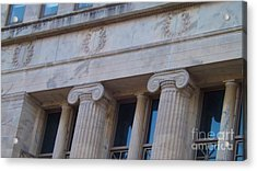 Acrylic Print featuring the photograph Ionic Columns by Brigitte Emme