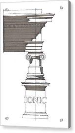 Ionic Order Acrylic Print by Calvin Durham