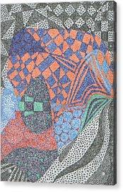 Ionic Pentameter Acrylic Print by William Burns