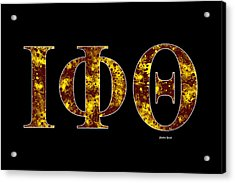 Iota Phi Theta - Black Acrylic Print by Stephen Younts