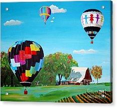 Iowa Balloons Acrylic Print