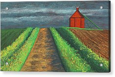 Iowa Country Road Acrylic Print by Garry McMichael