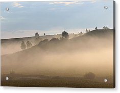 Iowa Morning Acrylic Print by Angie Phillips