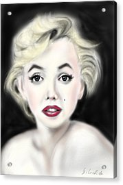 iPad Portrait Marilyn Acrylic Print by Yoshiyuki Uchida