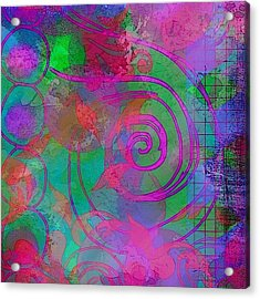 #ipadart #digitalart #textures Acrylic Print