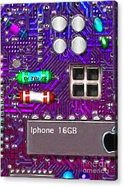 Iphone I-art P128 Acrylic Print by Wingsdomain Art and Photography