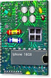Iphone I-art Acrylic Print by Wingsdomain Art and Photography