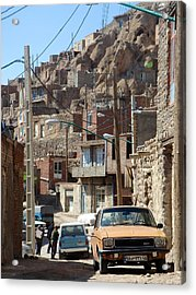 Iran Kandovan Cars And Wires Acrylic Print by Lois Ivancin Tavaf