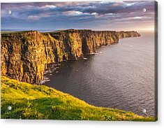 Ireland's Iconic Landmark The Cliffs Of Moher Acrylic Print