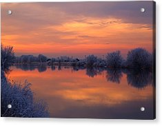 Acrylic Print featuring the photograph Iridescent Sunset by Lynn Hopwood