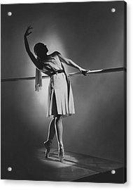 Irina Baronova At The Barre Acrylic Print by Horst P. Horst