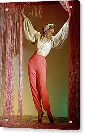 Irina Baronova Under Curtains Acrylic Print by Horst P. Horst