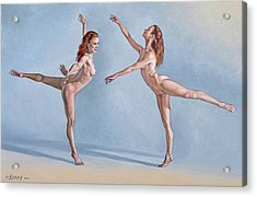 Irina Dancing Acrylic Print by Paul Krapf