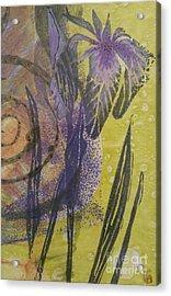 Iris And Spiral Acrylic Print by Cynthia Lagoudakis