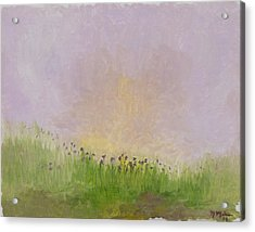 Iris Field Acrylic Print by Mark Minier