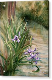 Iris Over The Inlet Acrylic Print