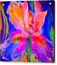 Funky Iris Flower Acrylic Print