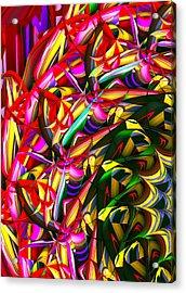 Iris Wheel Acrylic Print by Phill Clarkson
