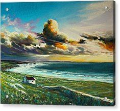 Irish Coastline Acrylic Print by Roman Burgan