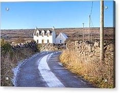 Irish Cottage On Isle Of Inis Mor Acrylic Print by Mark Tisdale