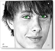 Irish Eyes Acrylic Print by Michael Taggart