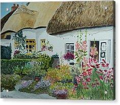 Irish Garden Acrylic Print by Betty-Anne McDonald