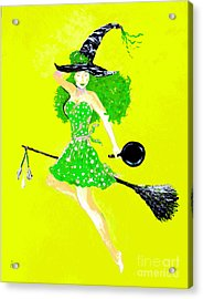 Irish Kitchen Witch Acrylic Print by Alys Caviness-Gober
