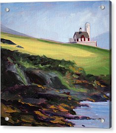 Irish Lighthouse Acrylic Print by Nancy Merkle