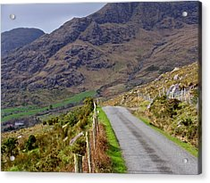Acrylic Print featuring the photograph Irish Road by Suzanne Oesterling