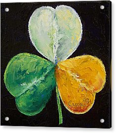 Irish Shamrock Acrylic Print by Michael Creese