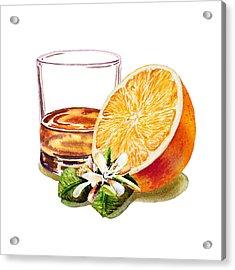 Acrylic Print featuring the painting Irish Whiskey And Orange by Irina Sztukowski