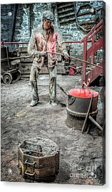 Iron And Brass Foundry Acrylic Print by Adrian Evans