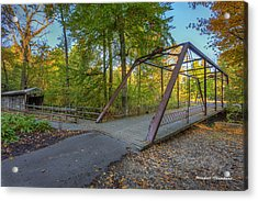 Iron Bridge At Yellow Creek Acrylic Print by Wendell Thompson