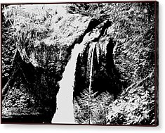 Iron Creek Falls Bw Acrylic Print by Rich Collins