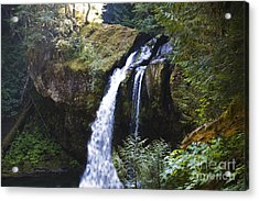 Iron Creek Falls Acrylic Print by Rich Collins