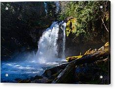 Iron Creek Falls Acrylic Print by Tikvah's Hope