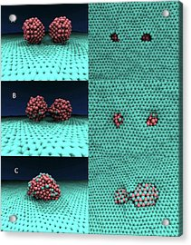Iron-graphene Nanostructure Simulation Acrylic Print by Center For Nanophase Materials Sciences, Ornl