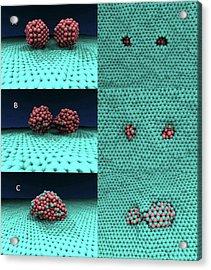 Iron-graphene Nanostructure Simulation Acrylic Print