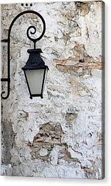 Iron Lantern On A Old Brick Wall Acrylic Print by Kamen Zagorov