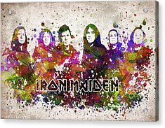 Iron Maiden In Color Acrylic Print by Aged Pixel
