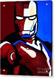 Iron Man 2 Acrylic Print by Barbara McMahon