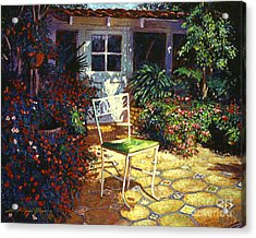 Iron Patio Chair Acrylic Print by David Lloyd Glover