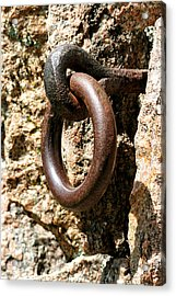 Iron Rings In Stone Acrylic Print