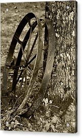 Acrylic Print featuring the photograph Iron Wheel by Linda Segerson