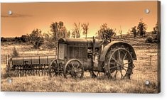 Iron Workhorse Acrylic Print by Aliceann Carlton