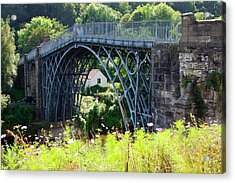 Ironbridge. Acrylic Print by Mark Williamson/science Photo Library