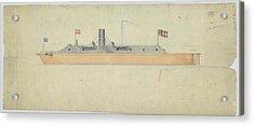 Ironclad Warship Css Virginia Acrylic Print
