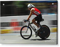 Ironman Flying Acrylic Print by Bob Christopher