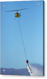 Iroquois Helicopter With Monsoon Acrylic Print by David Wall