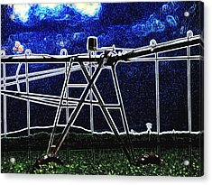 Irrigation Acrylic Print by Wendy J St Christopher